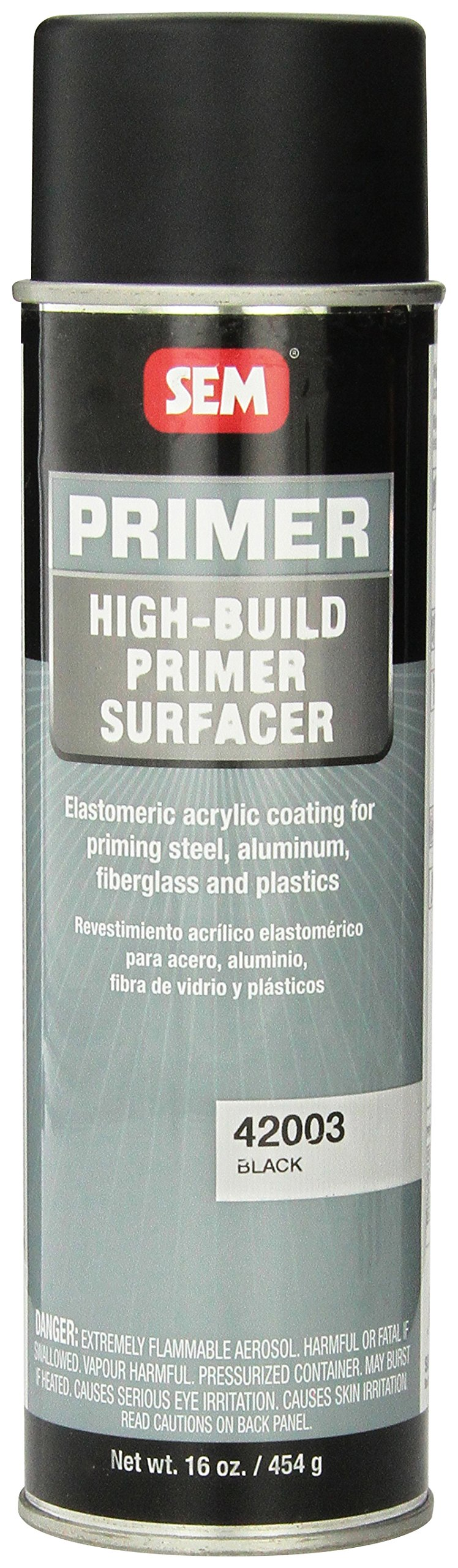 SEM 42003 Black High Build Primer - 16 oz.