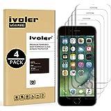 iVoler [4 Pack] Pellicola Vetro Temperato per iPhone 6s Plus e iPhone 6 Plus [Garanzia a Vita], Pellicola Protettiva Protezione per Schermo per iPhone 6s Plus / 6 Plus - Transparente