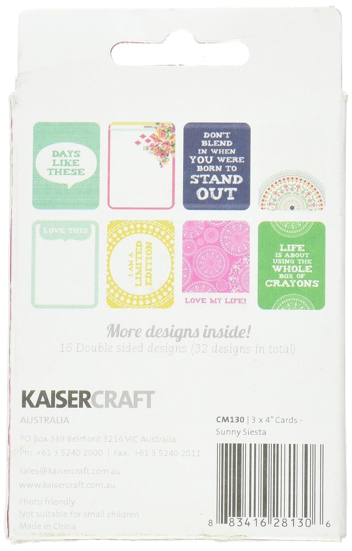 Kaisercraft Captured Moments Double-Sided Cards 3X4 48//Pkg-Sunny Siesta