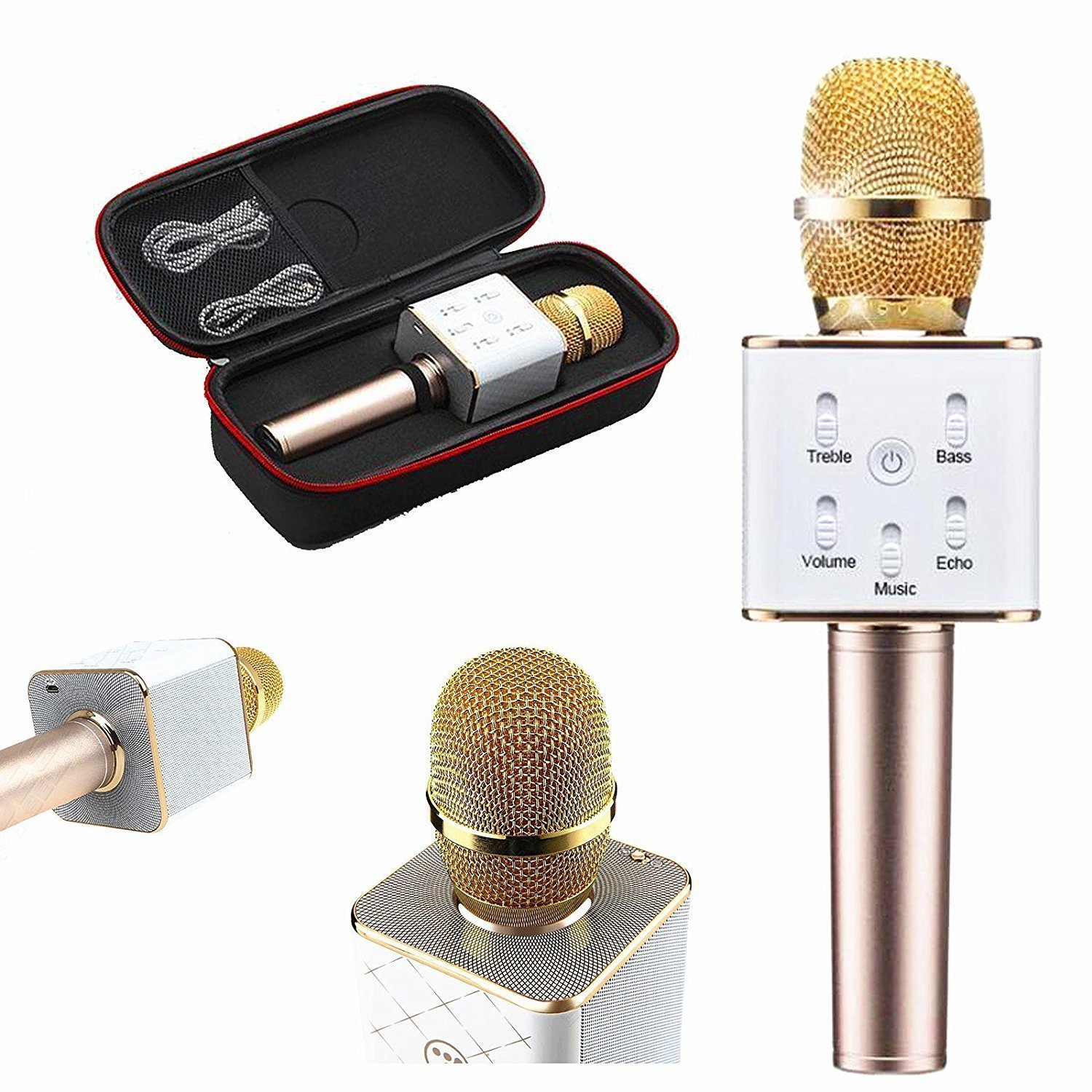 Wireless Q7 Karaoke Microphone Portable Handheld Mic Hifi Speaker Sing A Song Bluetooth Condenser And For Iphone Ipad Ipod Samsung Sony Htc Lumia
