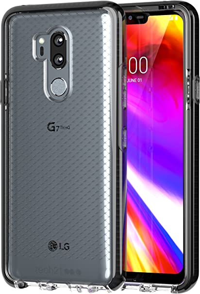 EVO Check - Carcasa para LG G7 ThinQ, Color Negro y Gris: Amazon ...