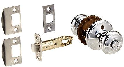 Schlage F40 GEO Georgian Privacy Door Knob Set, Polished Chrome