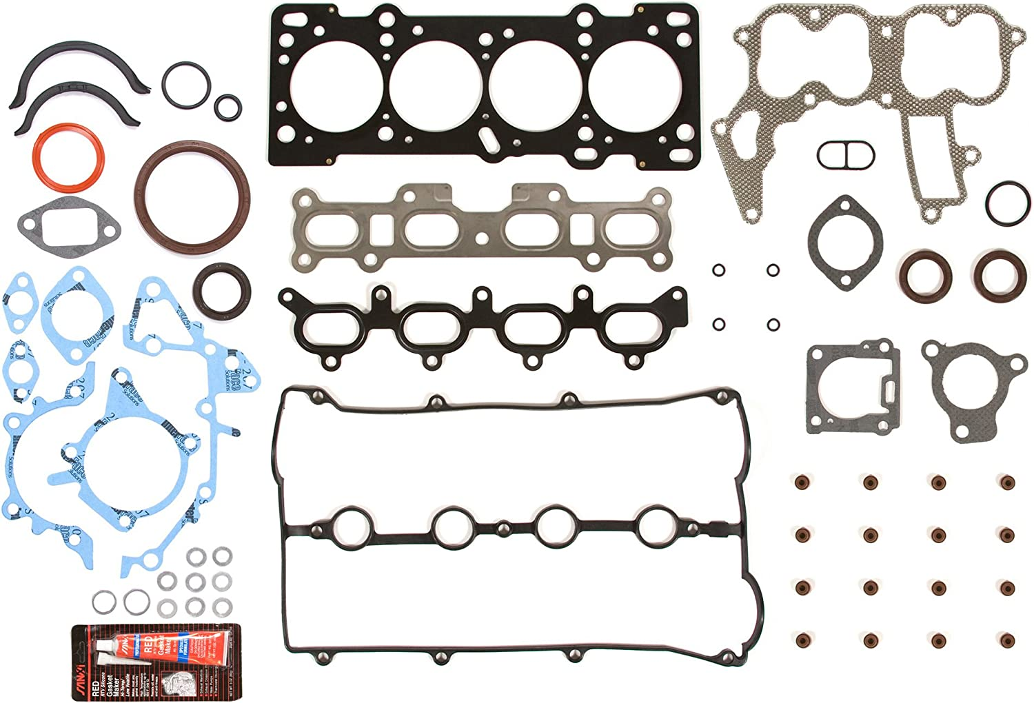 Evergreen OK6022L//2//1//1 Fits 94-98 Mazda Miata Protege 1.8 DOHC 16V BP Engine Rebuild Kit