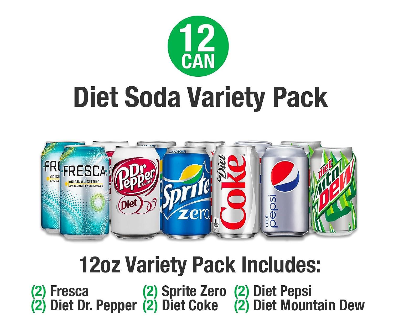 Amazon.com : 24 Can Soda Variety Pack - Assortment of Coke, Pepsi ...