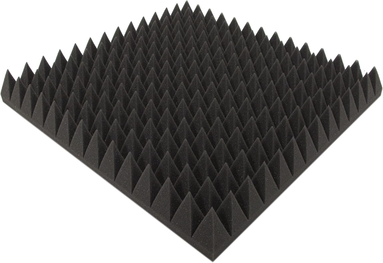 Akustikpur Akustikschaumstoff Pyramidenschaumstoff SELBSTKLEBEND Schalld/ämmmatten zur effektiven Akustik D/ämmung ca 49 cm x 49 cm x 7 cm