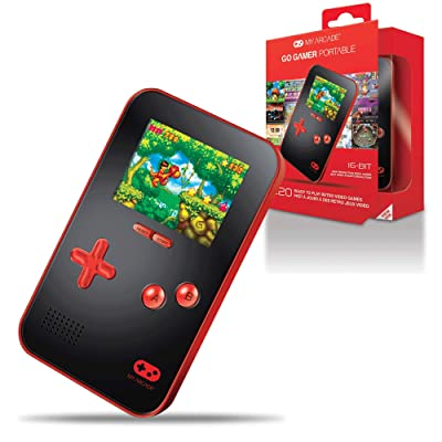 My Arcade Go Gamer Portable - Handheld Gaming System - 220 Retro Style Games - 16 Bit High Resolution - Battery Powered - Full Color Display - Volume Buttons - Headphone Jack - Red: Video Games [5Bkhe0305032]