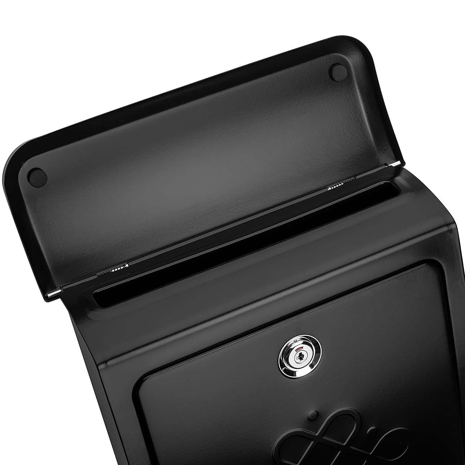 Architectural Mailboxes 2697B Bordeaux Locking Black Wall Mount Mailbox Small