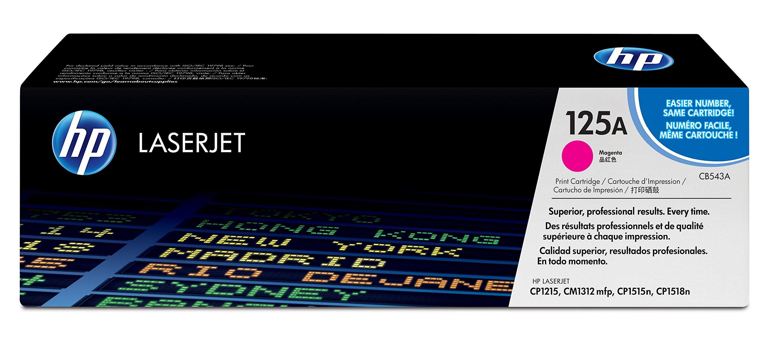 HP 125A (CB543A) Magenta Original Toner Cartridge for HP Color LaserJet CP1215 CP1515 CP1518 CM1312