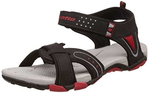 ba73fb80f Lotto Men s Grey Red Sandals and Floaters  Buy Online at Low Prices ...