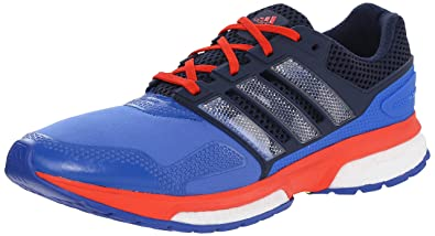 Adidas Performance Men\u0027s Response Boost 2 Techfit Running Shoe, Blue/White/Bold  Orange