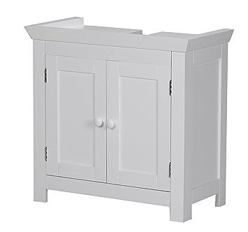 Waschbeckenunterschrank stehend holz  Wohnling Waschbeckenunterschrank Mila Holz, 57 x 30 x 55 cm ...