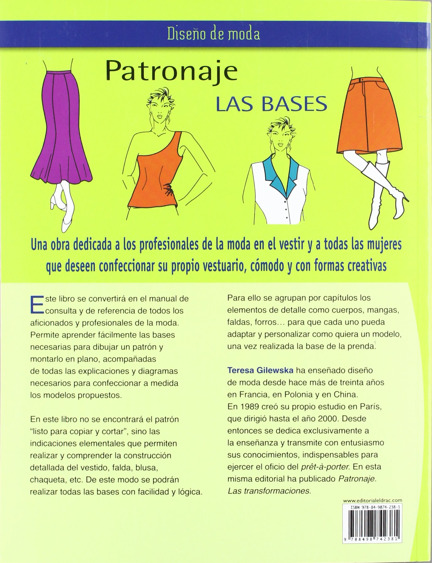 Patronaje, las bases / Pattern, the Basis (Diseño de moda / Fashion Design) (Spanish Edition): Teresa Gilewska: 9788498742381: Amazon.com: Books