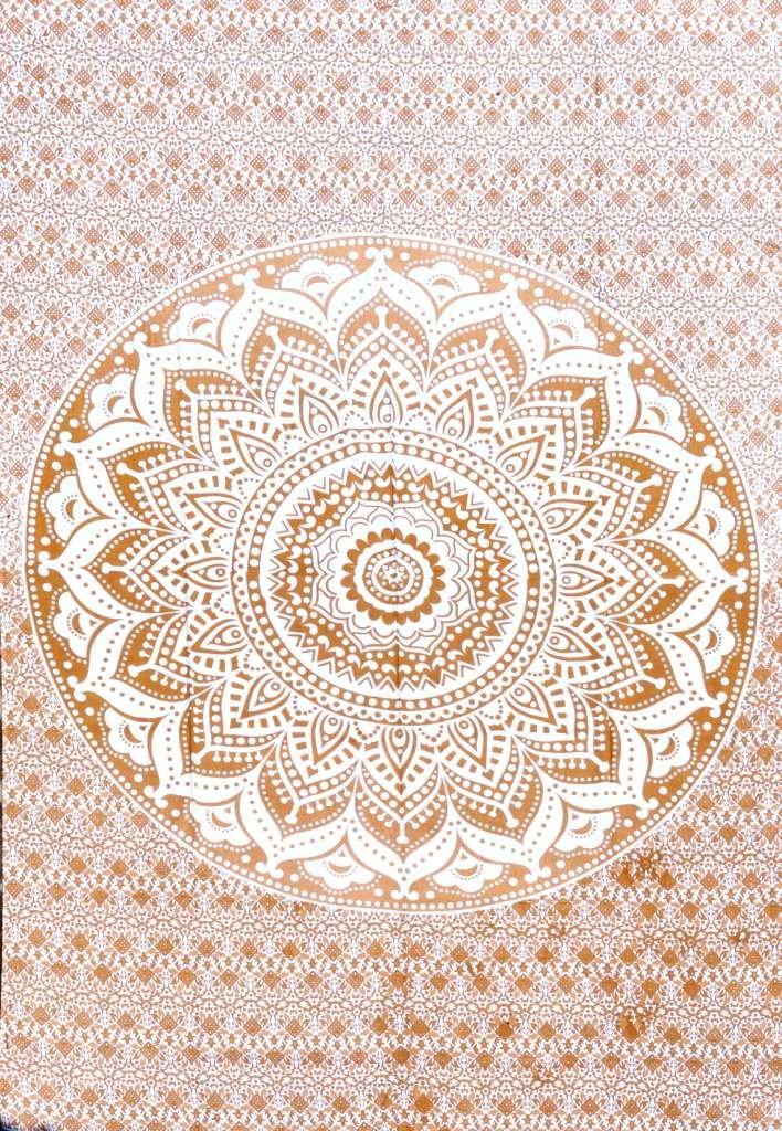 Healing Crystals India Cotton Hippy Indian Mandala Wall Hanging Bohemian Throw Decor Bedspread Tapestries (Brown)