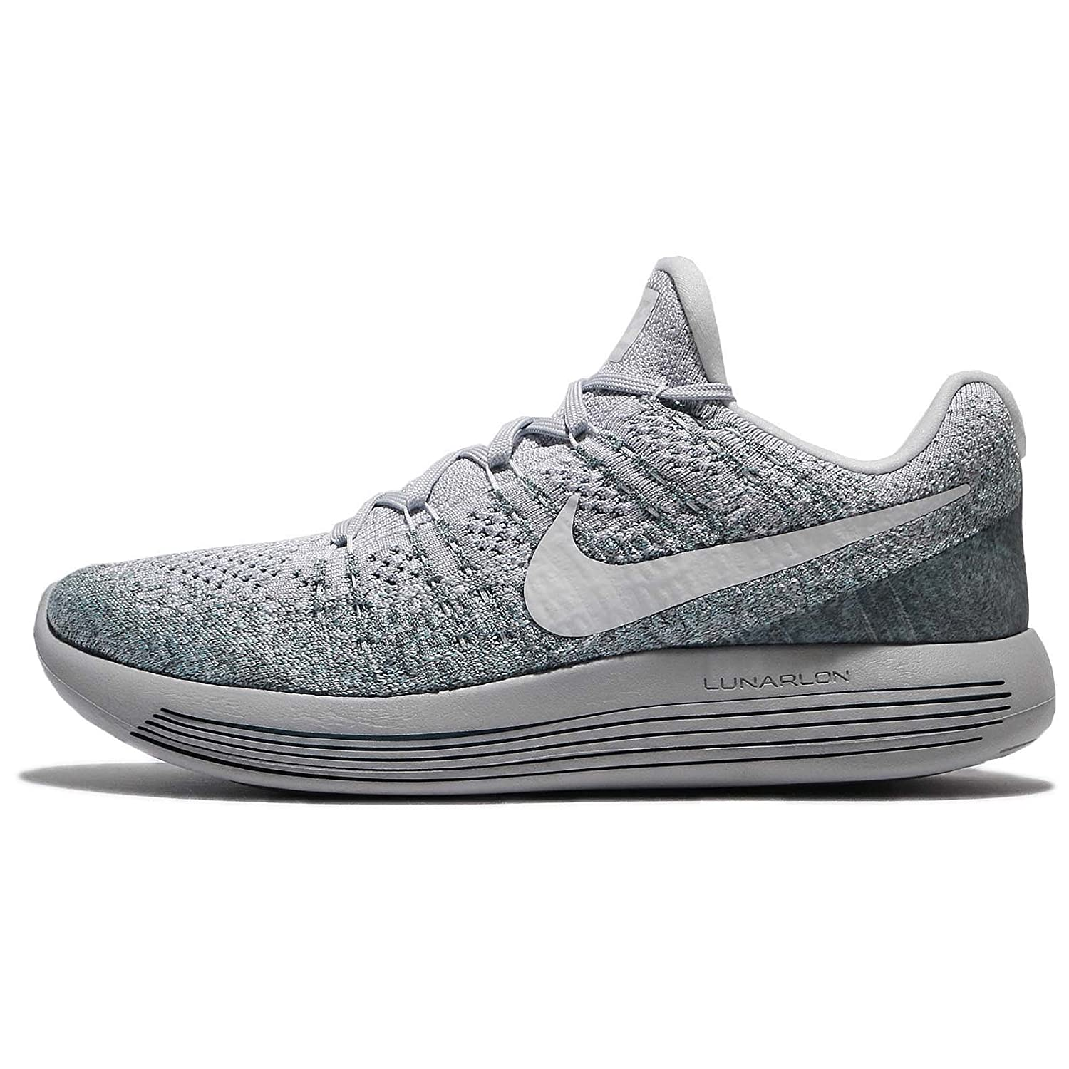 Size 863779-008 Nike Lunarepic Low Flyknit 2 Platinum Grey Mens Running Shoes