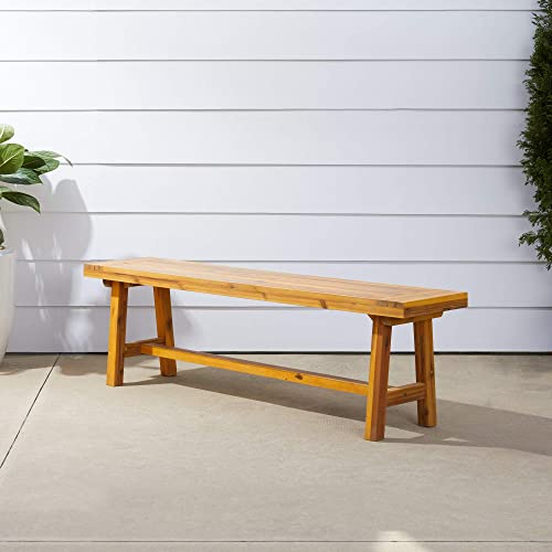 Vifah Miami Acacia Wood Picnic Backless Bench