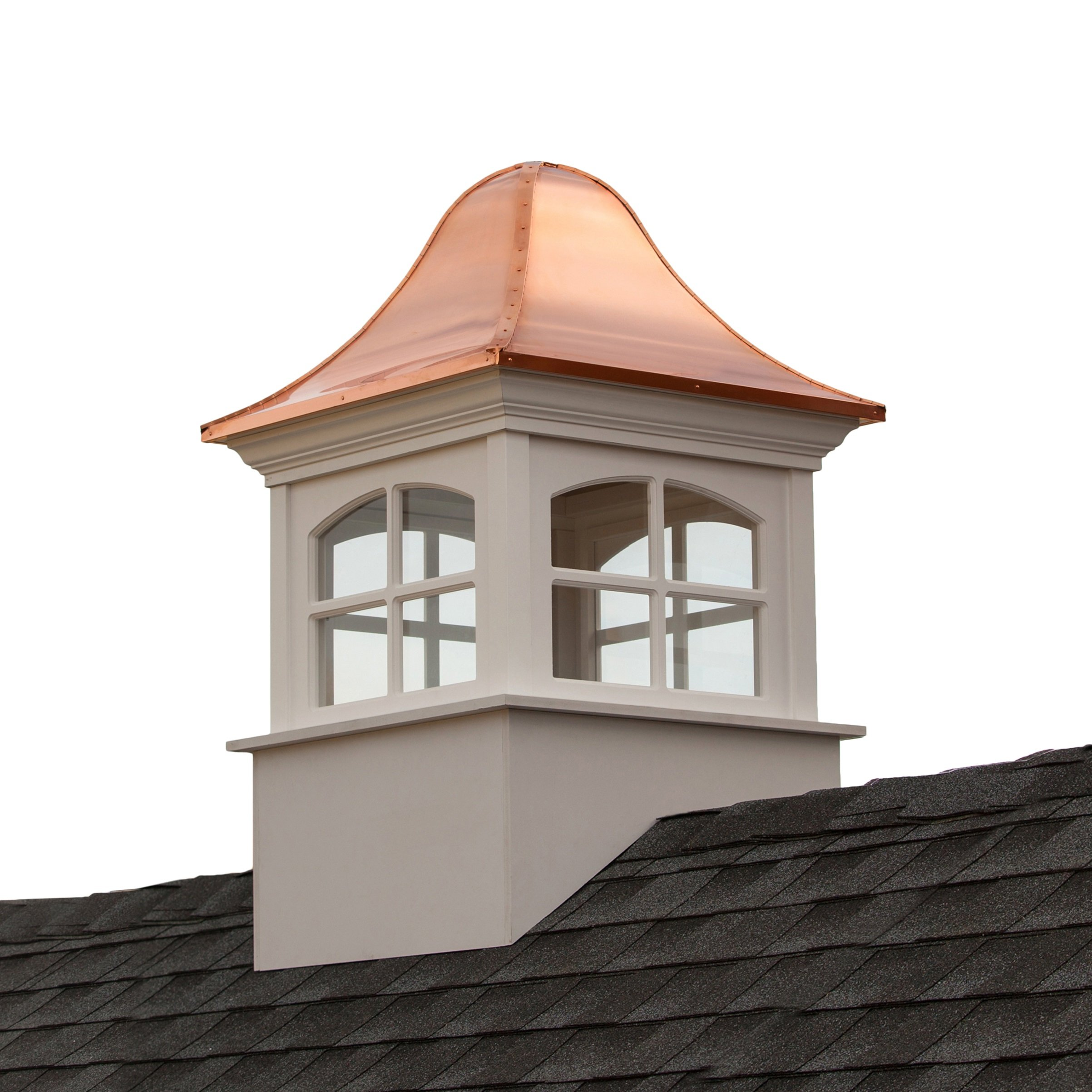 Greenwich Vinyl Cupola with Copper Roof 60'' x 97'' by Good Directions
