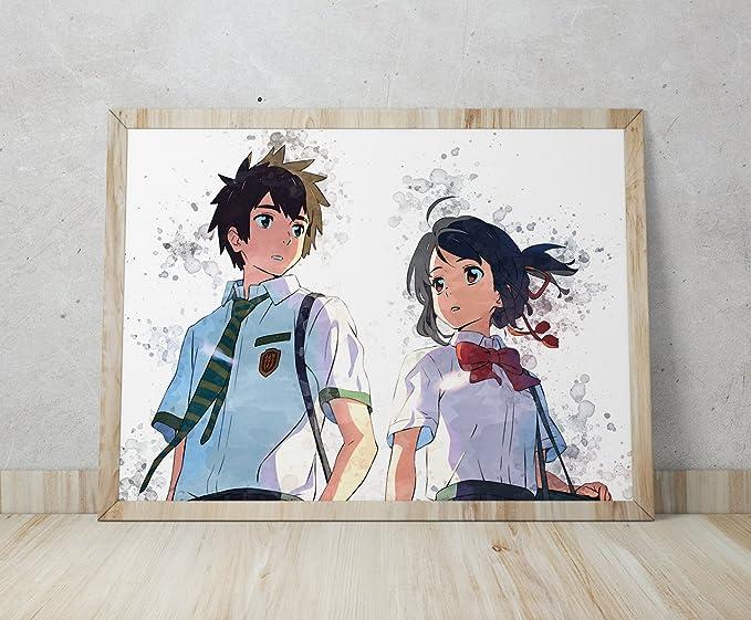Amazon.com: Kimi no NA WA, su Nombre, Kimi no NA WA Cartel ...