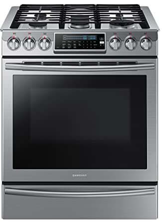 f261f2e28a2 Amazon.com  Samsung NX58H9500WS Slide-In Stainless Steel Gas Range with 5  Sealed Burners