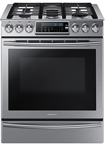 Samsung Nx58h9500ws Slide-In Stainless Steel Gas Range