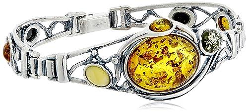 NOVICA Citrine .925 Sterling Silver Twist Hinged Cuff Bracelet, 6.25 , Beacon of Light