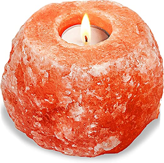 6 X HIMALAYAN SALT CANDLE TEA LIGHT HOLDER CRYSTAL ROCK 100/% NATURAL XMAS GIFT