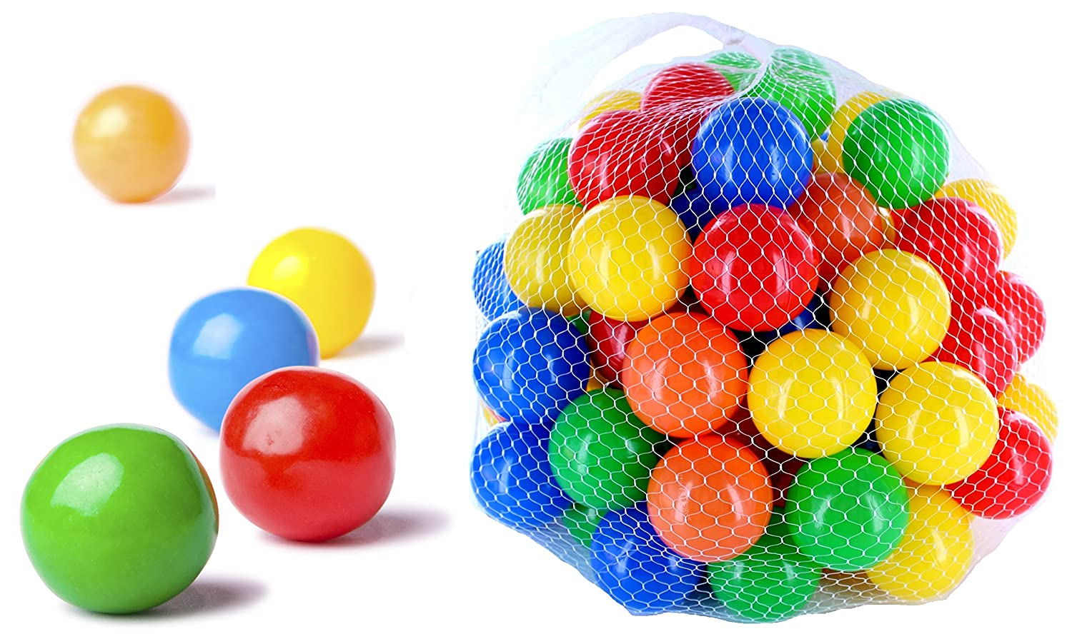 250 pieces red balls for children, babies and animals, 55mm diameter, Pit s children kids plastic play pool multi coloured toy soft mixed plastic certificate CM3
