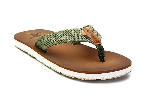 27c61bc310cc Sparx Men s Camel Green Rubber Flip Flops - 7  Buy Online at Low ...
