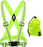 High Visibility Reflective Vest - Safety Reflector Strips Bands - Reflective Running Gear for Men and Women for Night Running, Biking, Walking