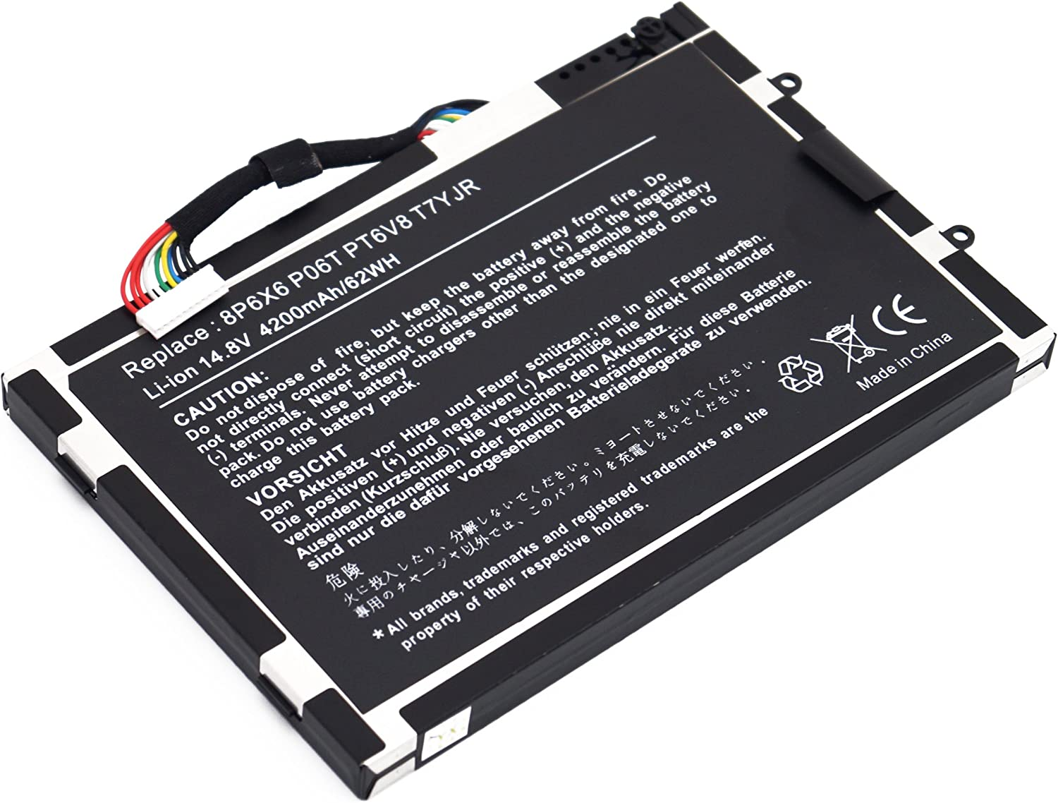 LQM 14.8V 49Wh New Laptop Battery for Dell Alienware M11x M14x R1 R2 R3 8p6x6 P06t Pt6v8 T7yjr 08p6x6