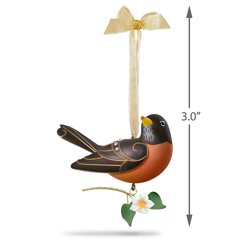 Hallmark Keepsake Christmas Ornament 2018 Year Dated Beauty of Birds Robin Hallmark Cards
