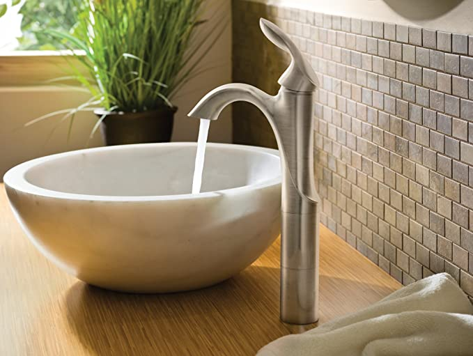 Moen 6400BN Eva One Handle Single Hole Bathroom Sink Faucet
