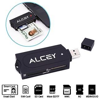 Lector De Tarjeta Inteligente Todo-En-Uno Alcey DOD Militar USB Acceso Común CAC