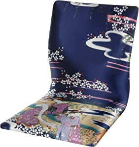 Oriental Furniture Tatami Meditation Backrest Chair - Indigo Geisha