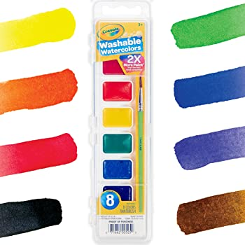 Crayola 8 Colors Watercolor Paint