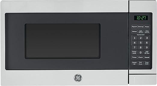 Amazon.com: GE 700 W encimera horno microondas, acero ...