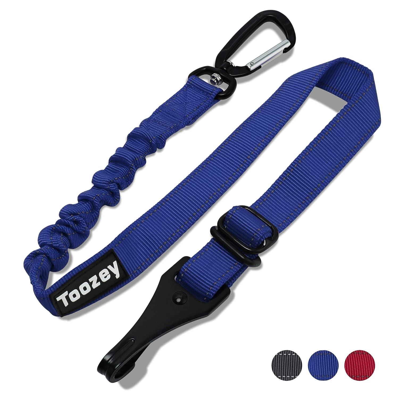 Toozey Hunde Sicherheitsgurt für Auto, Hundesicherheitsgurt mit Isofix, Profi Karabiner und Elastischer Ruckdämpfung, Einstellbar Hundegurt, Höchste Sicherheit für Alle Hunderassen und Katzen Schwarz