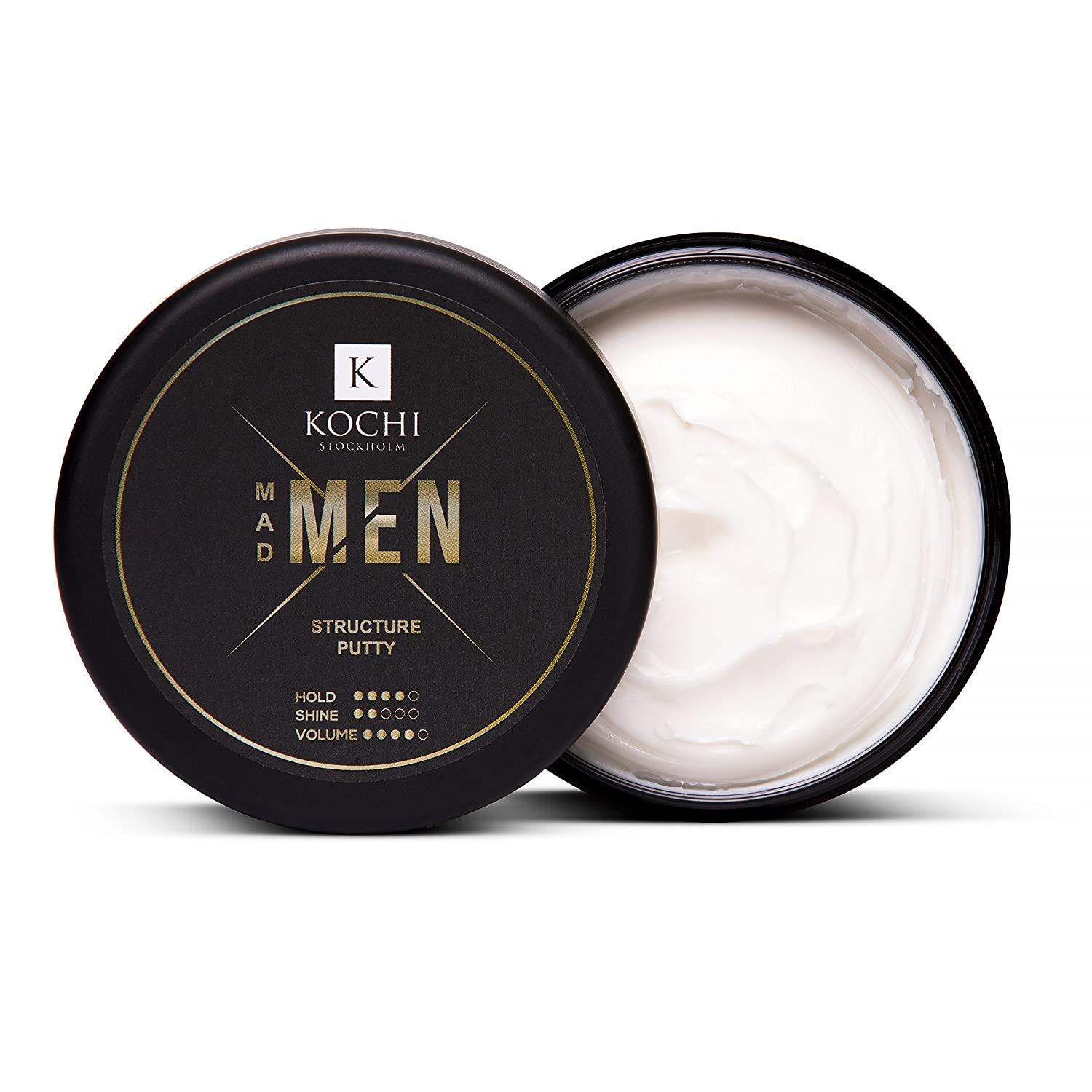 Amazon Com Kochi Stockholm Mad Men Limited Edition Structure Putty Swedish Brand High Shine Volume Soft Hold Hair Styling Products Water Soluble Faraj Beauty