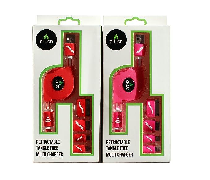 1 opinioni per Chjgd multi Premium retrattile cavo 4in 1, caricatore USB universale groviglio