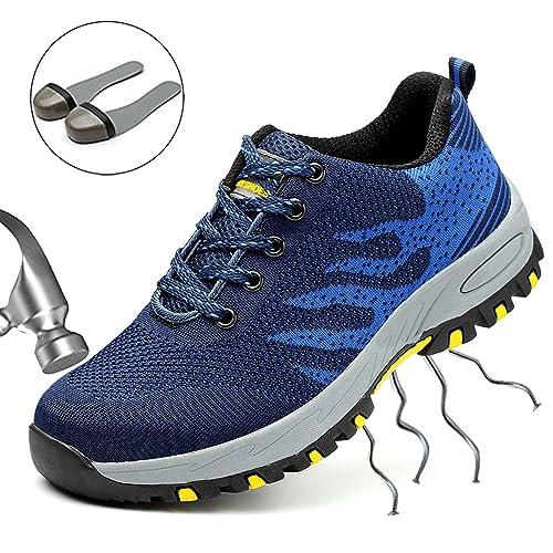 SUADEEX Mujer Hombre Zapatillas de Seguridad con Punta de Acero Protección Zapatos de Trabajo para Deporte Senderismo Industria: Amazon.es: Zapatos y ...
