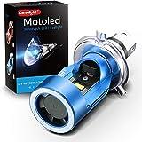Camelight最新モデル 青色光付き CCFLバイク用LEDヘッドライトH4 / HS1 Hi/Lo直流 DC 12V / 24V汎用ホワイトライト6000K(青色)