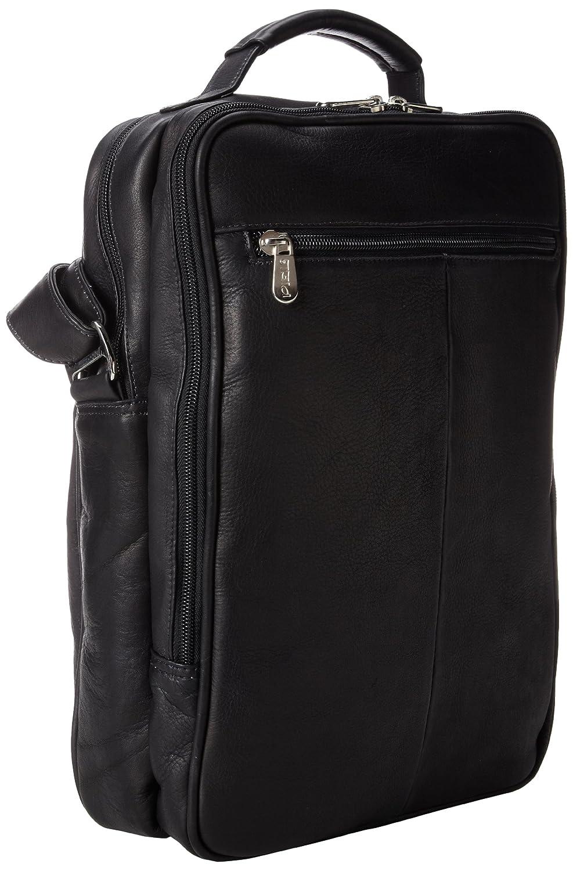 Piel Leather Laptop Shoulder Bag One Size 2818 Saddle