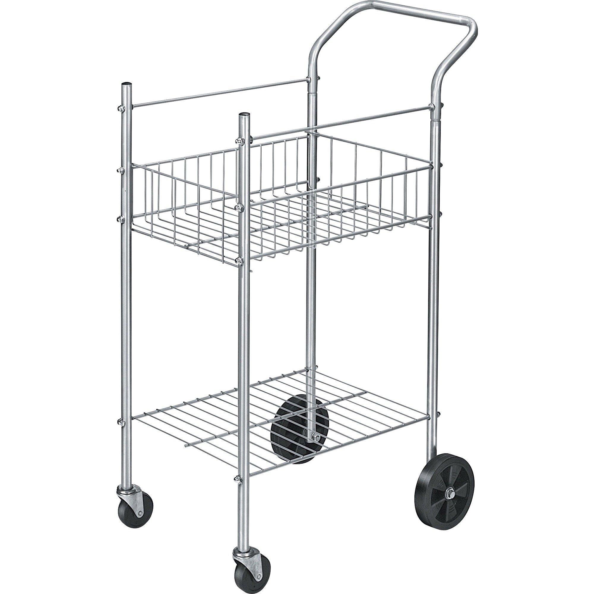 Economy Mail Cart, 2-Shelf, 20-1/2w x 38d x 39-1/4h, Chamois