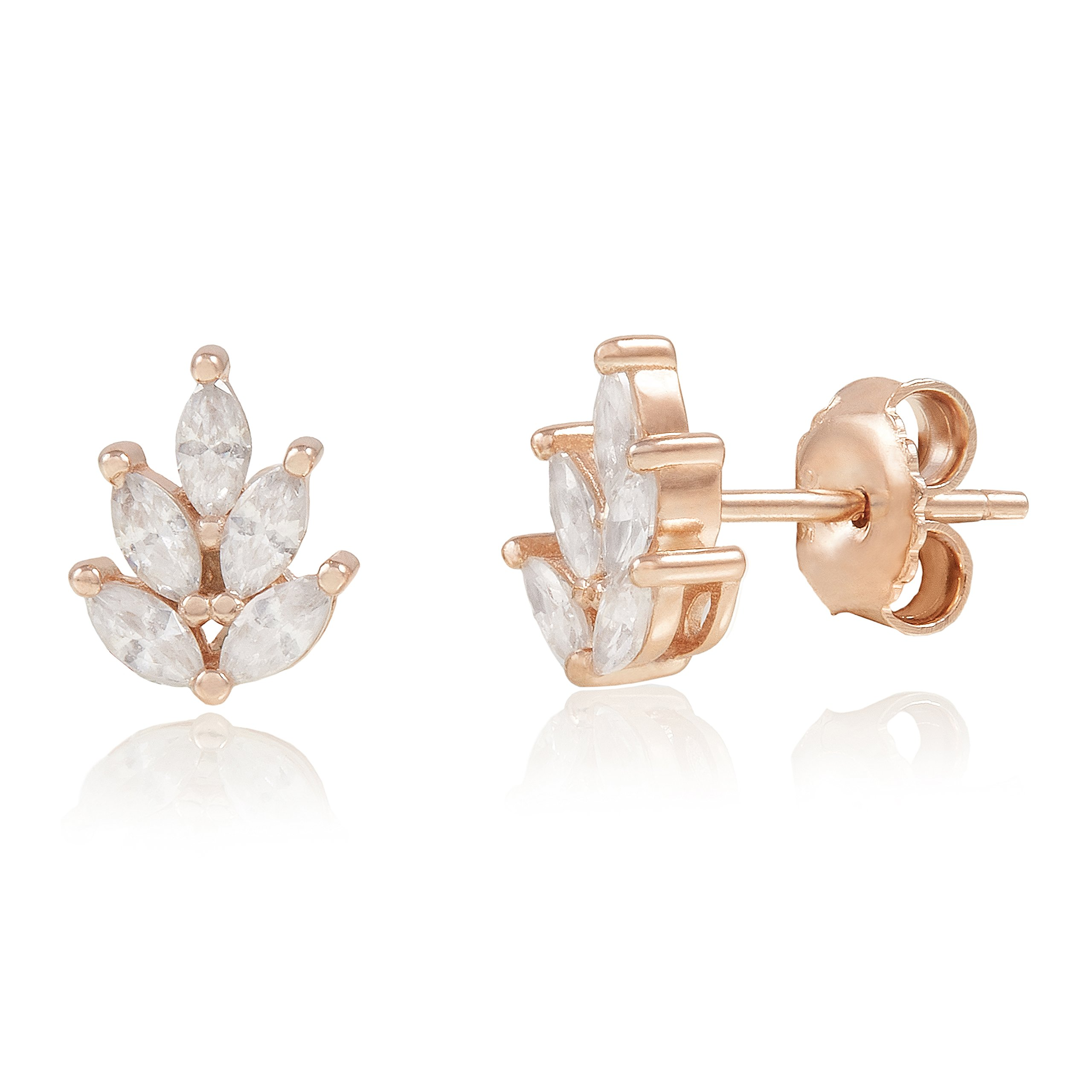 products danabronfman marquis oculus stud earring yg hammered marquise earrings studs