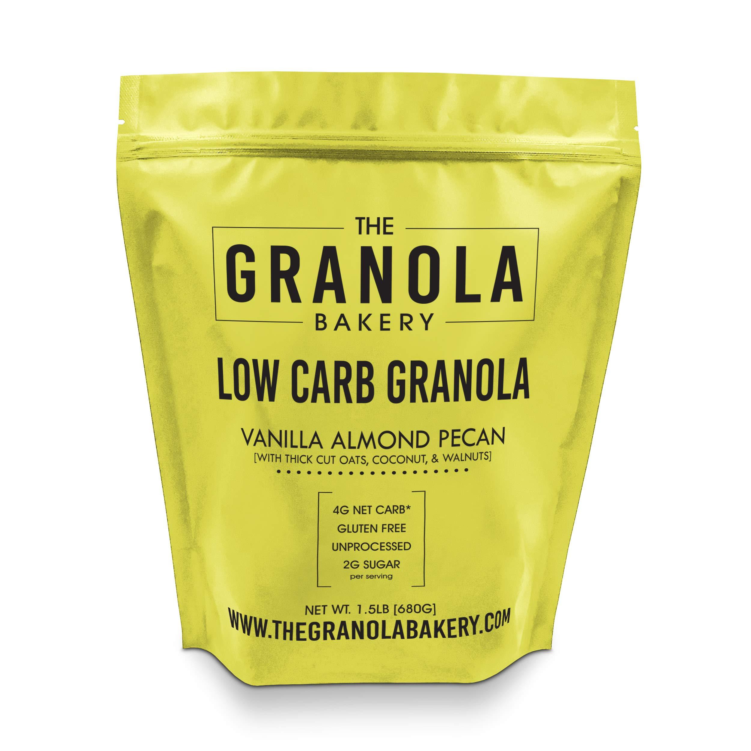 ELAN Gluten Free Granola, Healthy Low Sugar Breakfast Cereal, Salt Free, Whole Grain, Non Gmo, Vegan Food (Pecan Almond Walnut, 1.33lb Bulk Bag) by Elan Granola