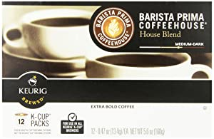 Barista Prima Coffeehouse Coffee, Keurig K-Cups, House Blend, 72 Count
