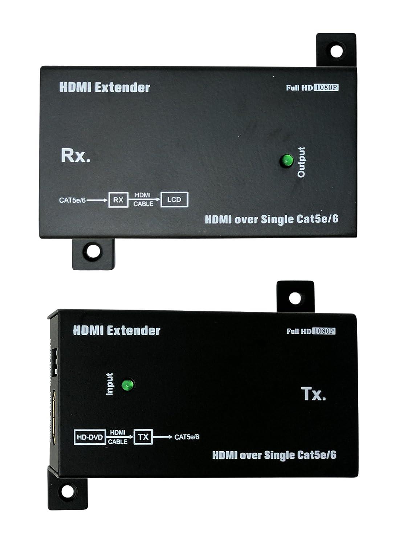 Kenuco Hdmi Over Single Cat5e Cat6 Ethernet Extender Hdmisuperextendercat6wiringdiagramjpg Home Audio Theater