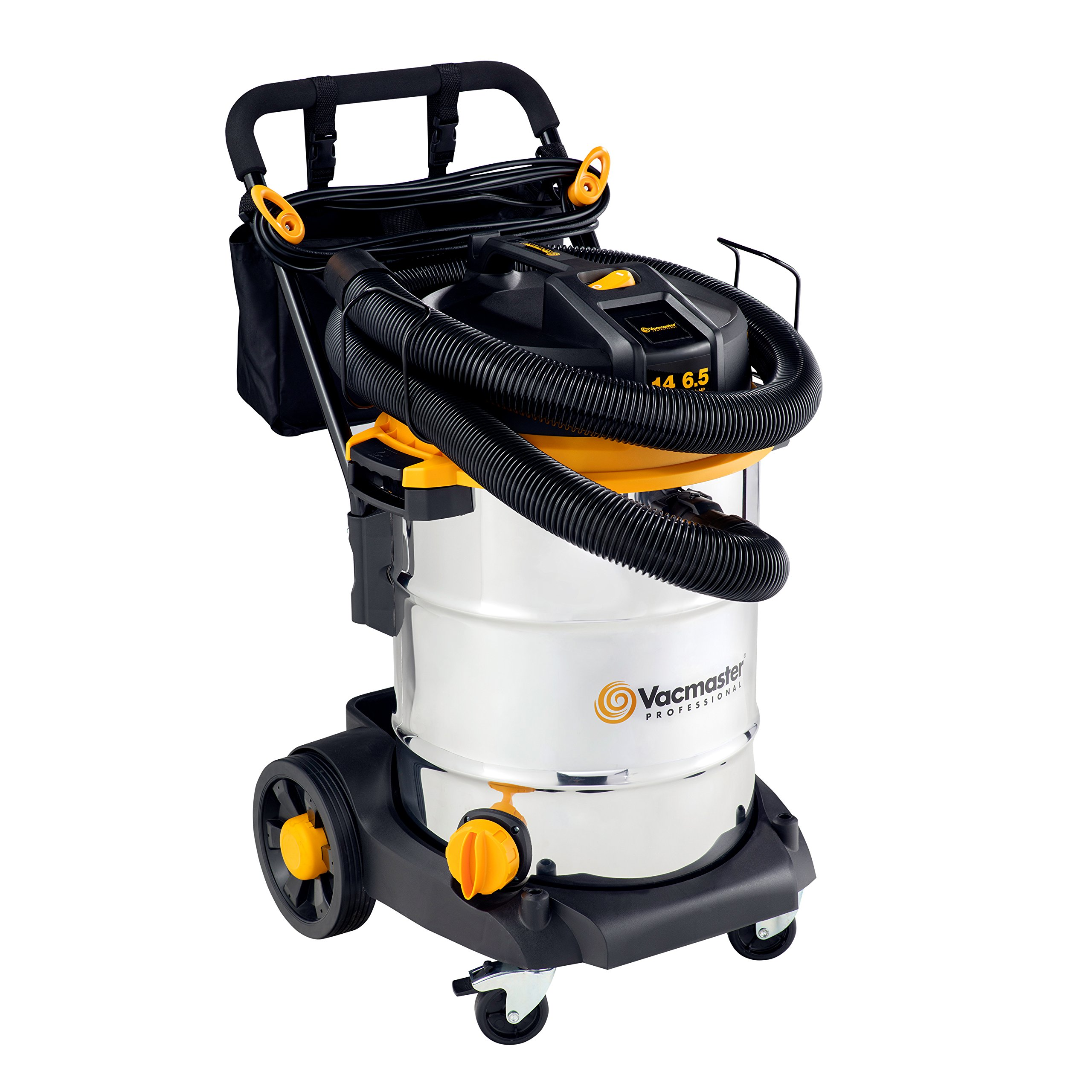 Vacmaster - Beast Professional Series 14 Gal. 6.5 HP Steel Tank Wet/Dry Vac with Cart (VJE1412SW0201) by Vacmaster (Image #5)