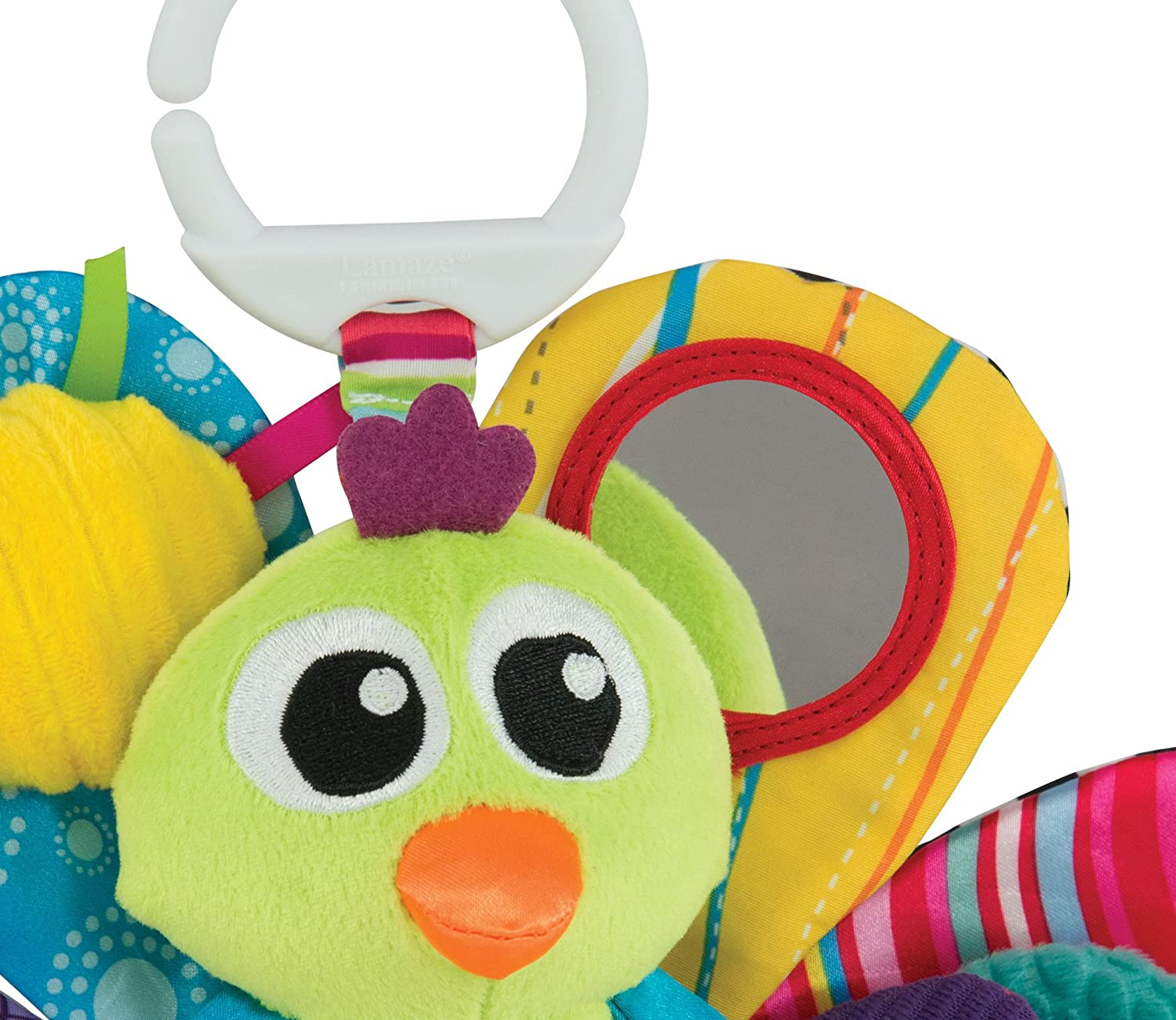 LC27013 Lamaze Jacques the Peacock Play /& Go Pram Toy Baby Infant Age 0 Months+