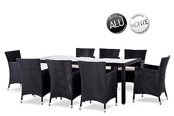 SOLEIL JARDIN - Table et chaises en résine tressée 8 places MYKONOS ...