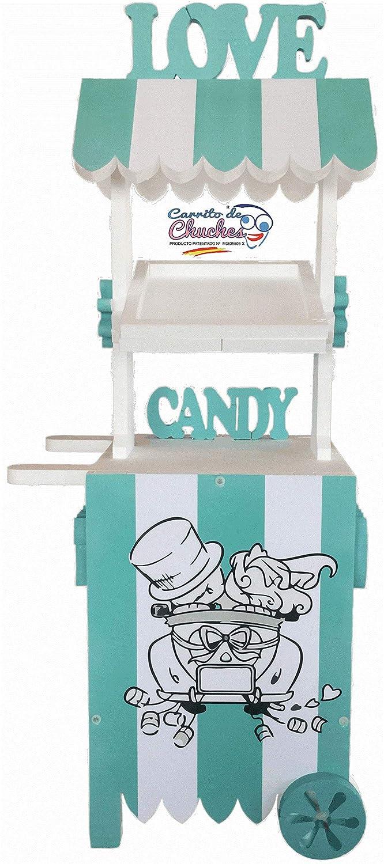 Candy Cart Bodas Turquesa.para Decorar. Medidas 170cms(Alto) x70cms(Ancho) x47cms(Fondo): Amazon.es: Juguetes y juegos
